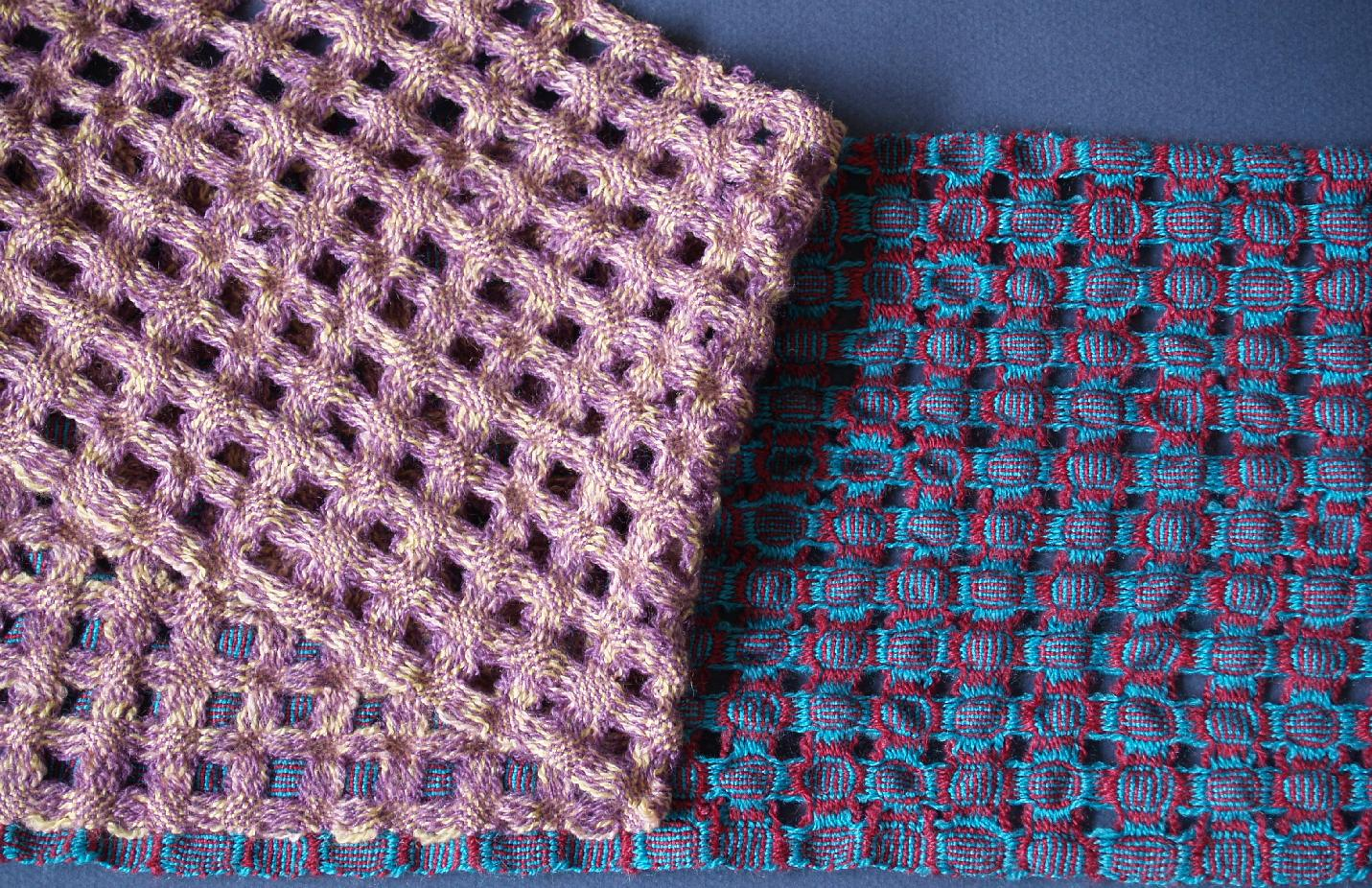 Gudrun\'s doubleweave scarves - two scarves for the price of one!