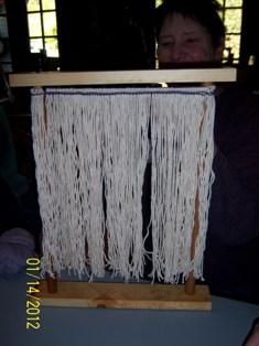 Weaving in process