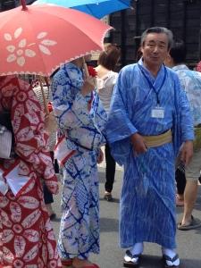 Shibori yukata at the  Arimatsu Shibori Festival 2014